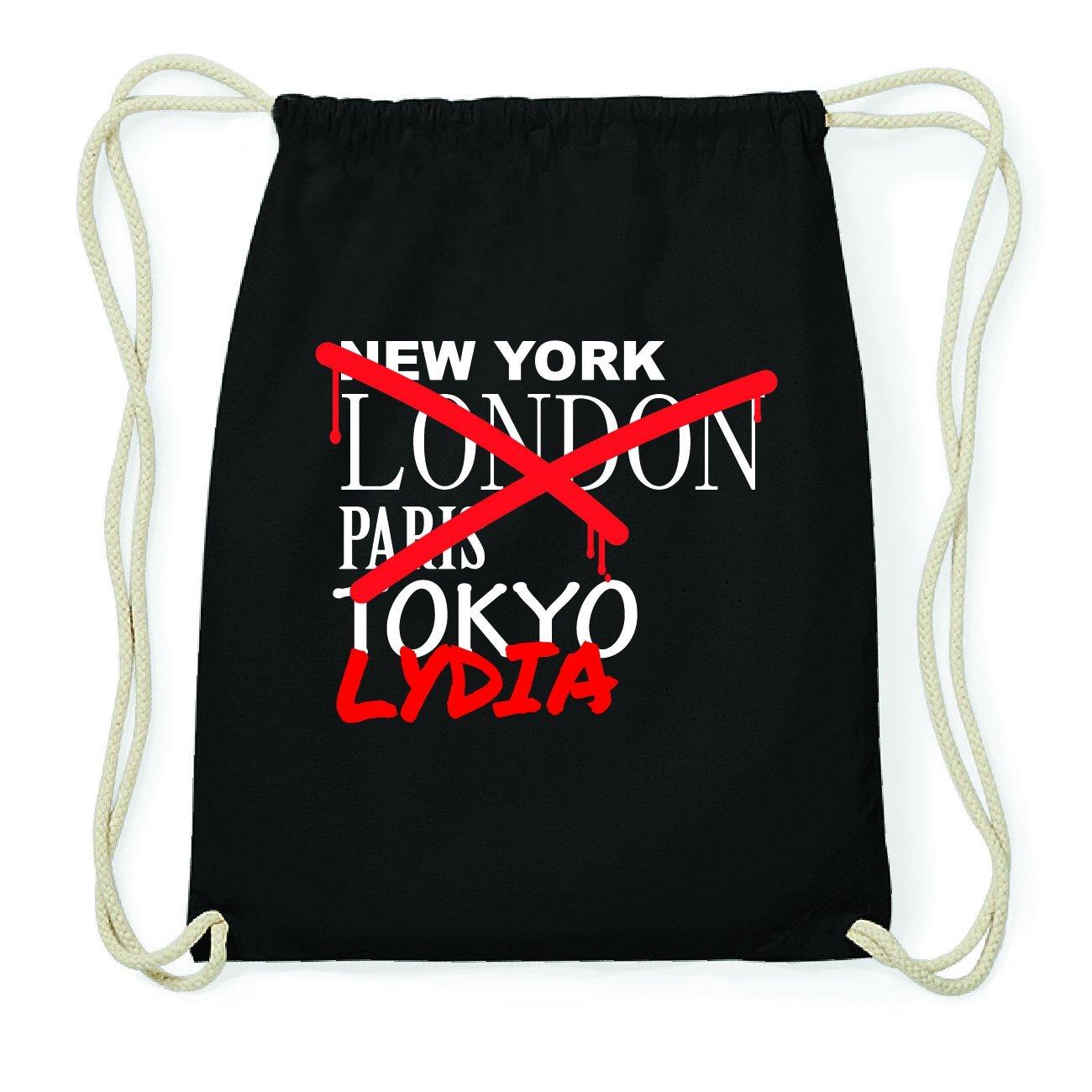JOllify Lydia Hipster Sacca Borsa Zaino in cotone–colore: nero