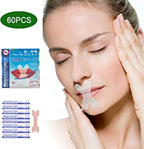 Sleep Strips,Anti Snoring Devices Advanced Gentle Mouth Tape for Sleeping 60 Pcs Stop Snoring Mouth Tape for Better Nose Breathing Sleep Aids Snoring Solution Mouth Sleep Strips for Snoring Reduction