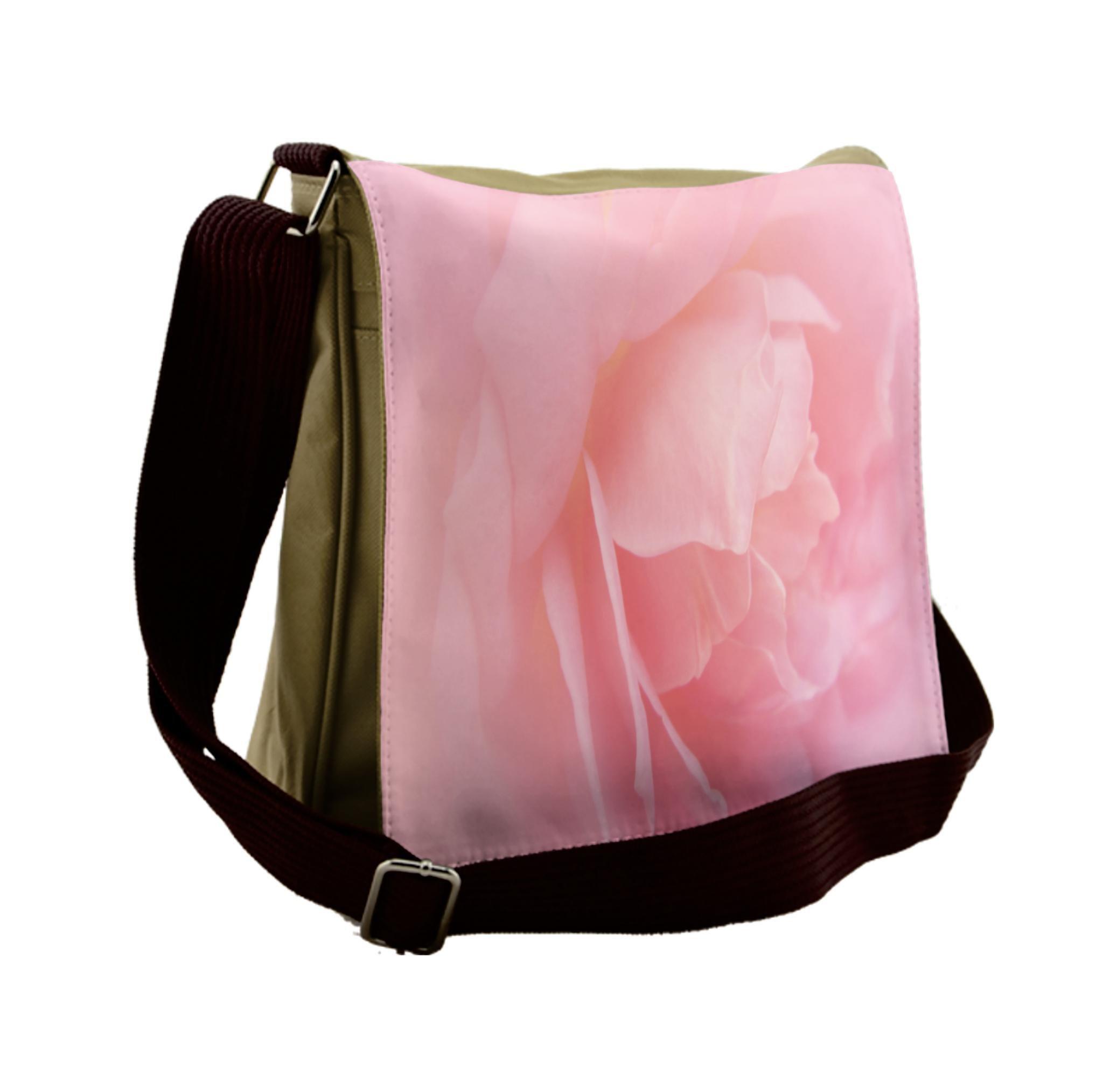 Lunarable Pale Pink Messenger Bag, Wedding Inspired Love, Unisex Cross-body