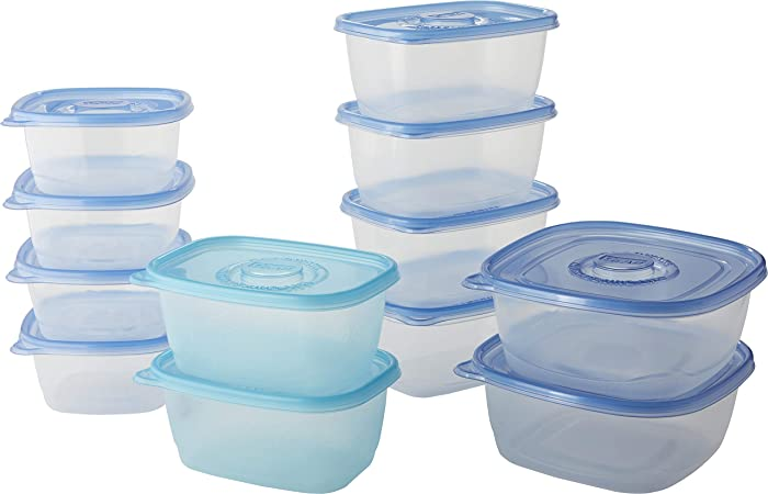 Glad Family Variety Pack Food Storage Containers, Variety-12 Count`, Clear