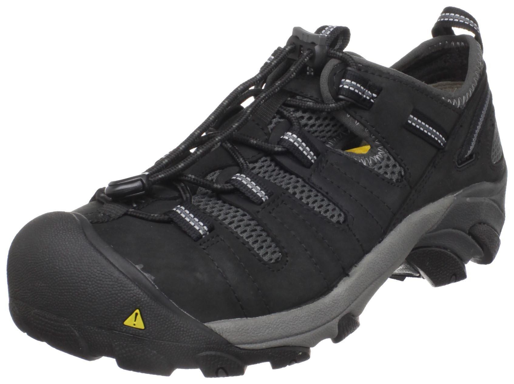 KEEN Utility Men's Atlanta Cool Steel Toe Work Shoe,Black,7.5 D  US