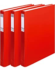 Herlitz max.file Protect A4 2 Ring Binder - Red (3 Pieces)