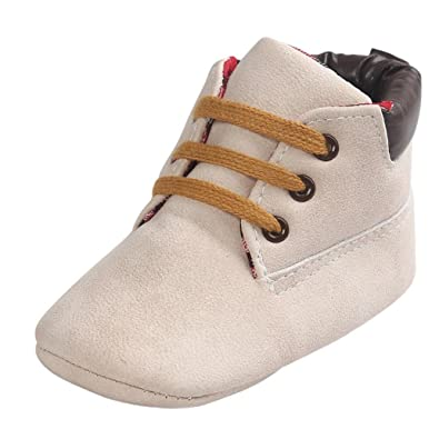 4e96502d80d1f Bonjouree Chaussures Bébé Premiers Pas Chaussures Souples en Cuir  Artificiel Hiver de Bebe Garçons et Filles