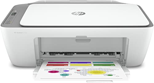 HP DeskJet 2755 Wireless All-in-One Printer, Mobile Print, Scan Copy, HP Instant Ink Ready, Works with Alexa 3XV17A