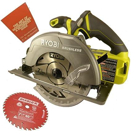 Ryobi p508 18 volt one 7 14 in brushless circular saw bundle with ryobi p508 18 volt one 7 14 in brushless circular saw greentooth Choice Image