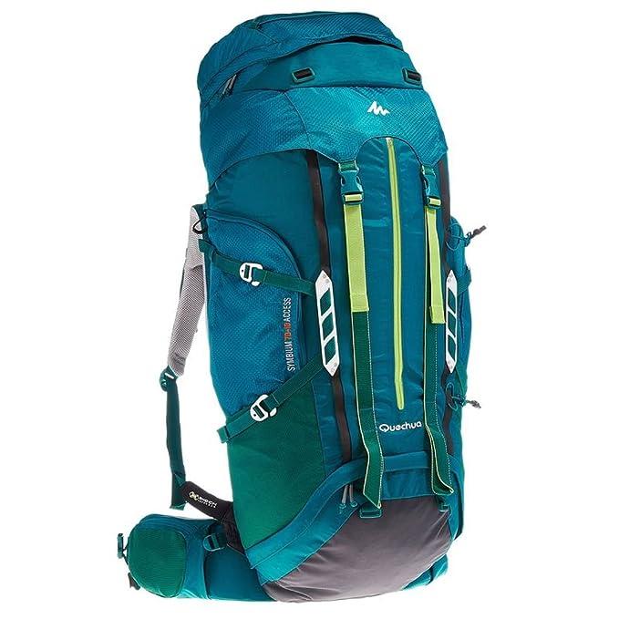 Acceso Decathlon Quechua SYMBIUM 70 + 10L Mochila de senderismo para mujer, color azul