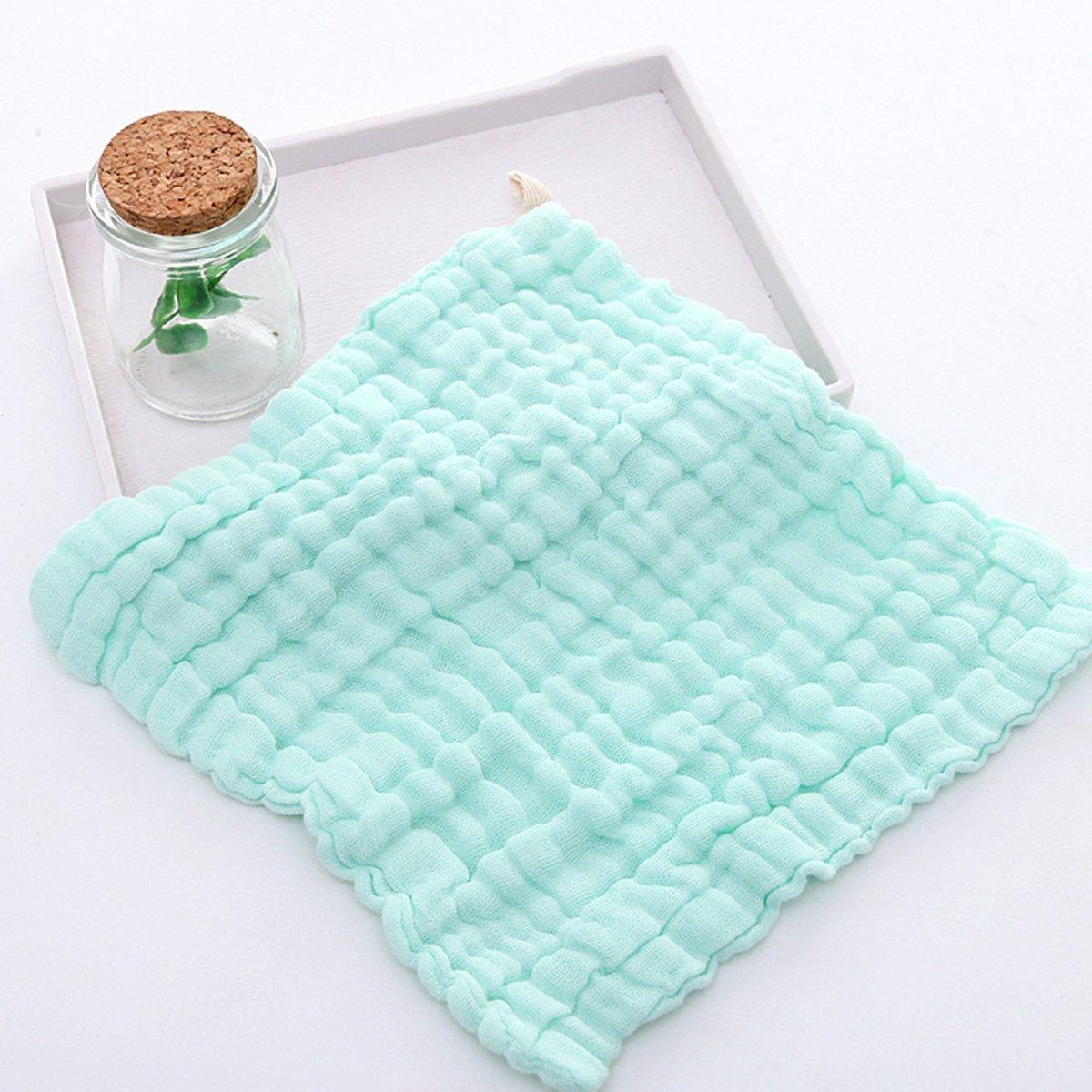 Toallitas de beb/é y muselina paquete de 5 11x11 Tukistore Toalla de beb/é reci/én nacido suave para beb/és Super absorbente de agua para beb/é y beb/és Pieles delicadas