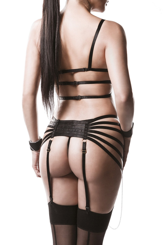 Grey Velvet Damen Straps-Bandage-Set M//L