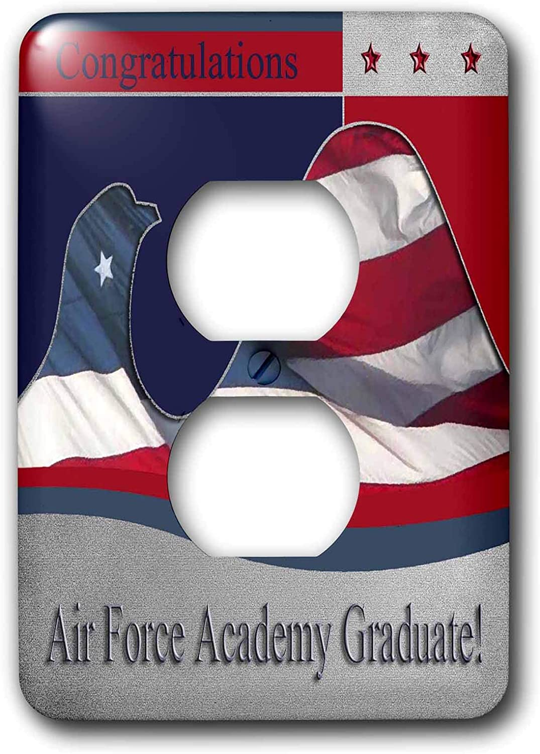3drose Lsp 40423 6 Congratulations Air Force Academy Graduate Flag Eagle 2 Plug Outlet Cover Outlet Plates Amazon Com