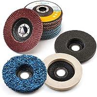 11 STKS Flap Discs & Slijpen Polijstschijven Set door LotFancy - 115 mm x 22,23 mm 40 60 80 120 Grit Diverse…