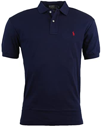Polo Ralph Lauren Mens Classic Fit Interlock Polo Shirt - S - Navy