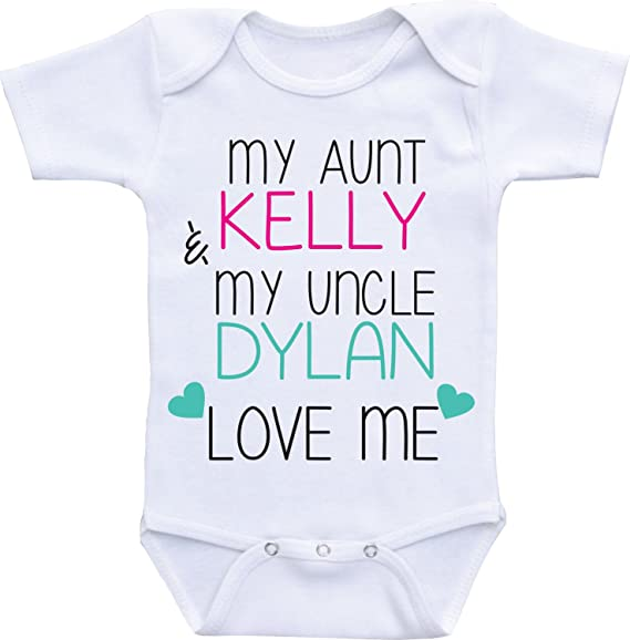 Insert Name Insert Name Love me Romper Onesie Creeper LPM My Aunt and Uncle