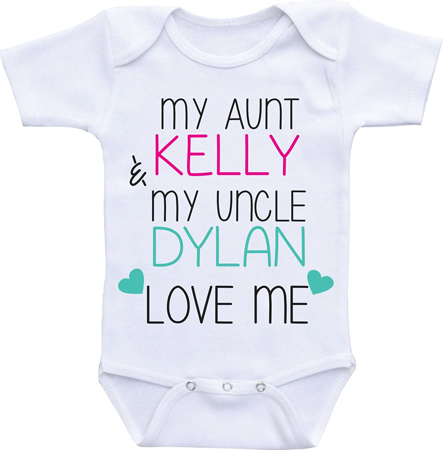 464d00760 Promini Funny Baby Onesie My Aunt and Uncle Love Me Baby Bodysuit:  Amazon.ca: Clothing & Accessories