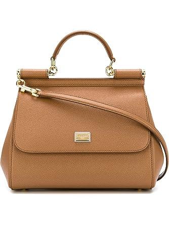 18bb93c524 Dolce E Gabbana Women s BB6002A10018M417 Brown Leather Handbag   Amazon.co.uk  Clothing