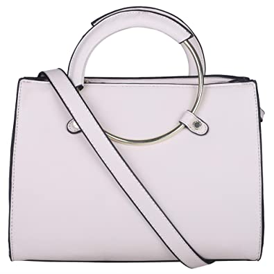 6a1d11d1f215 BCBGMAXAZRIA Women s Satchel (Beige)  Amazon.in  Shoes   Handbags