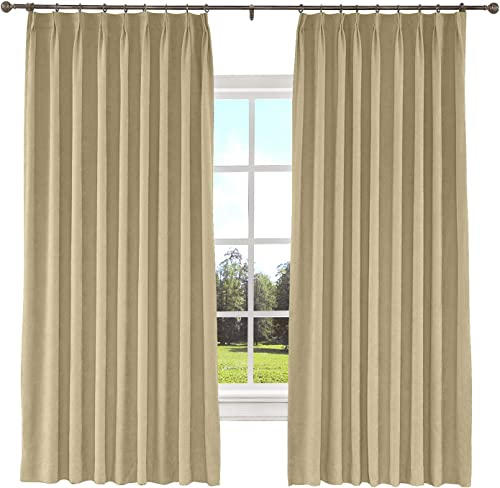 ChadMade Extra Long and Wide Curtain 100″ W x 102″ L Polyester Cotton Drapery