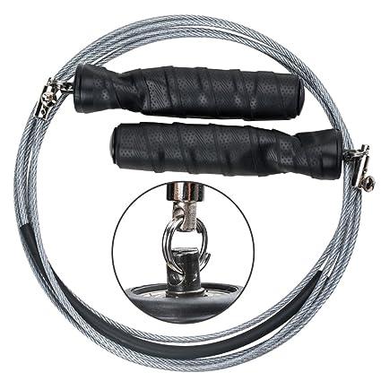 Amazon.com : Newdora Steel Wire Jump Rope Speed Jump Rope Crossfit ...