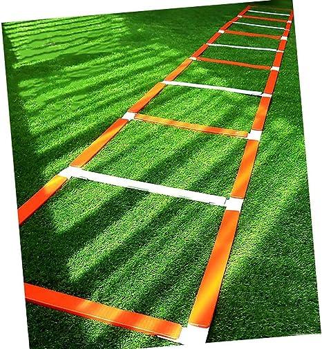 Xin Escalera for Agilidad Footwork Escalera - Fútbol Boxeo Juego de piernas Deportes Velocidad Entrenamiento de la Agilidad, 5M 11 Peldaño: Amazon.es: Deportes y aire libre