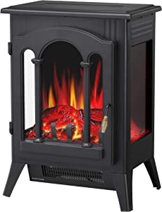 R.W.FLAME Infrared Electric Fireplace Stove, 16