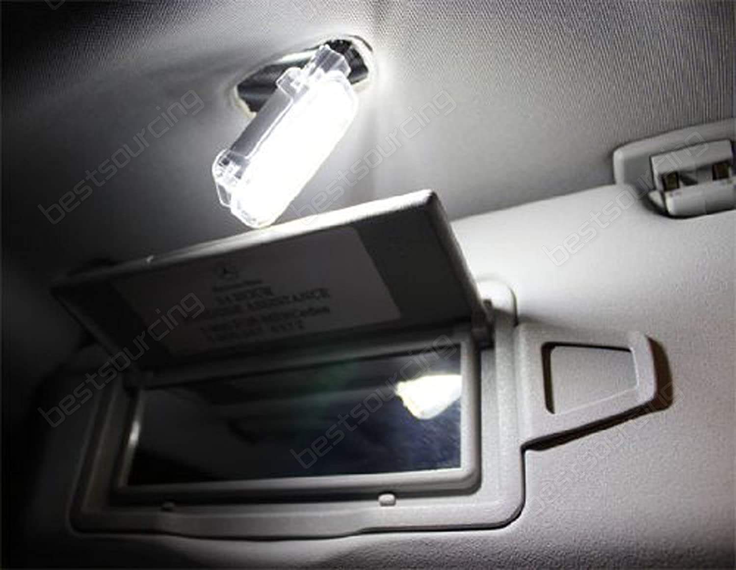 A/&R A2218200401 LED Footwell Luggage Boot Visor Mirror Light Lamp