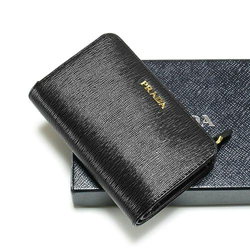 e71b440fbd67 折財布 レッド バイカラー NERO×LACCA ブラック/ 1ML225 VITELLO MOVE BI 二つ折り レディース PRADA プラダ