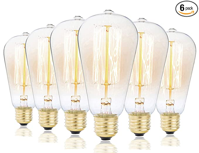 light bulb pendant glass edison bulbs rolay 40w dimmable industrial pendant filament light bulbs with vintage antique style design