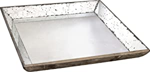 A&B Home 30348 Mirror Glass Tray, 24 by 24-Inch