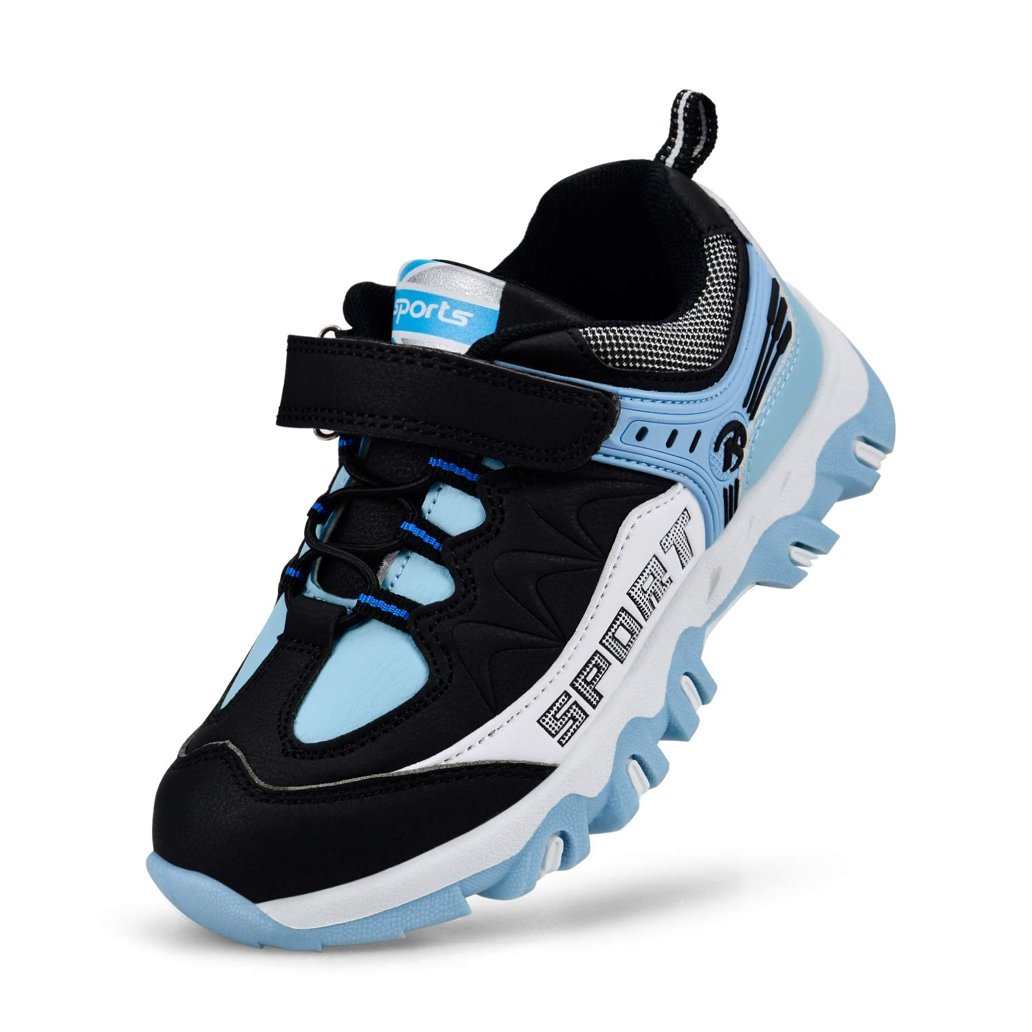 MARSVOVO Girls Shoes Non-Slip Waterproof Hiking Shoes Girls Running Shoes Blue/Black 8.5 Toddler