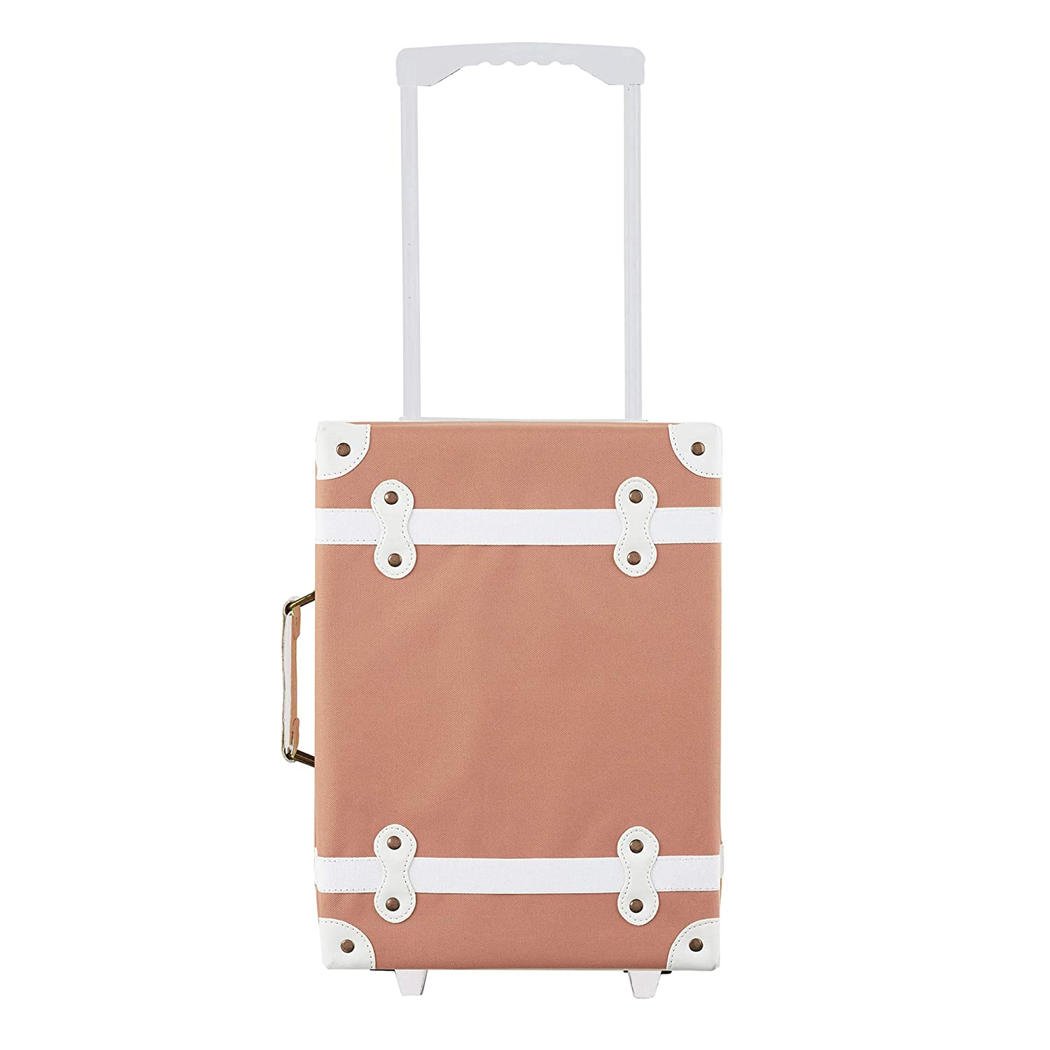 Olli Ella Kid's Sized See-Ya Suitcase - Rose