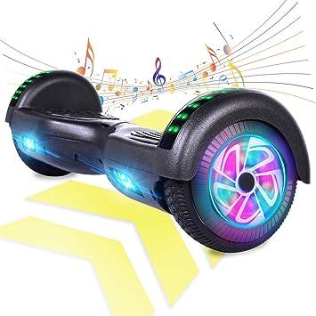 Speakers Motorized Scooter hoover Board Black UL Easy People 2 Wheel Bluetooth