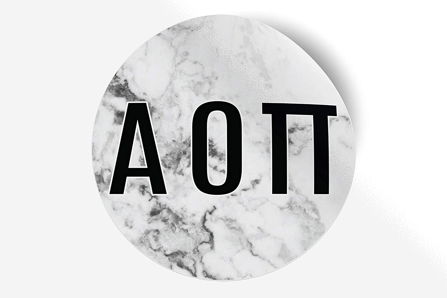 "Alpha Omicron Pi Sticker Greek Sorority Decal for Car, Laptop, Windows, Officially Licensed Product, Monogram Design 5"" x 5"" - White Marble"