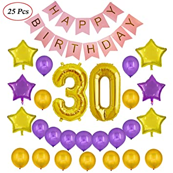 Echolife 30th Birthday Party Decorations Kit