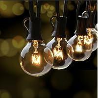Fochea Lichtsnoer voor buiten, G40, 9,5 m, globe lampen, lichtketting, tuin, voor Kerstmis, bruiloft, feest…
