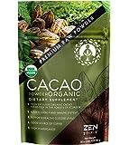 Cacao Powder Organic - Unsweetened Premium Grade Superfood (Raw) - USDA & Vegan Certified - 453.59g (16oz) - Perfect for Breakfast, Hot Chocolate, Baking & Ice Cream.