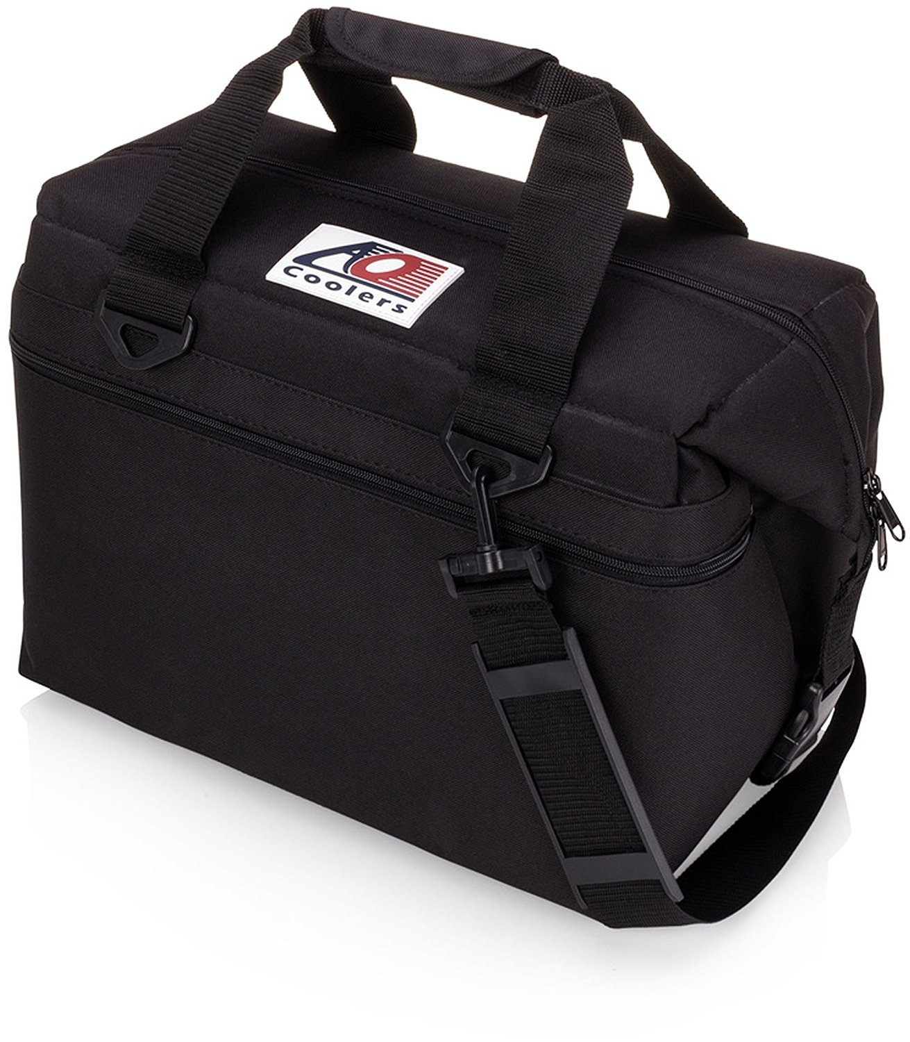 AO Coolers Canvas Soft Cooler with High-Density Insulation, Black, 36-Can