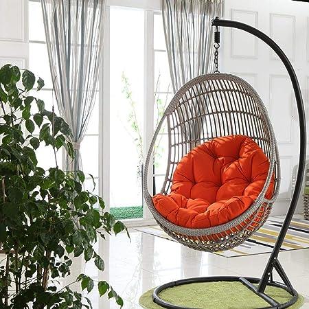 dianhai306 Columpio Cesta Colgante del Amortiguador de Asiento, Espesar Colgantes de Huevo Hammock Chair Pads Impermeable Silla del Asiento de amortiguación para Patio Jardín(No Hay Columpio): Amazon.es: Hogar