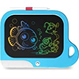 TEKFUN Preschool Toys for 3 5 6 7 4 Year Old Boys, Educational Toys for Boys Age 3-9, 8.5 Inch Color Whale LCD Writing Tablet