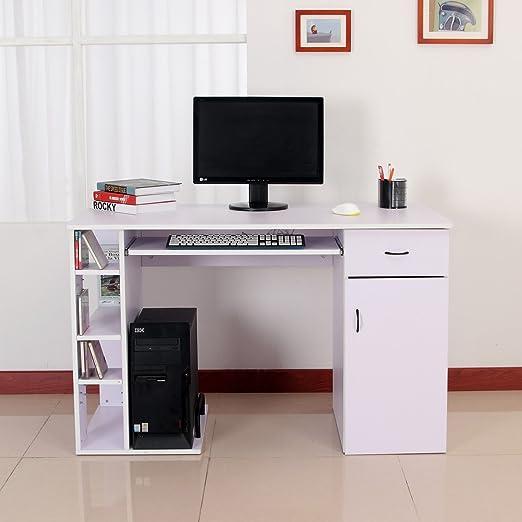 12 opinioni per Homcom- Scrivania per Computer Scrivania Ufficio Porta PC con Ripiano Tastiera