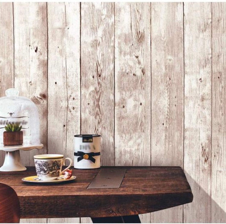 Amazon Isdy 壁紙 シール はがせる 壁紙 リメイク シート リフォーム ウォール ステッカー カッティング 幅45cm 長さ 10m ヴィンテージ 木目 Diy 工具 ガーデン