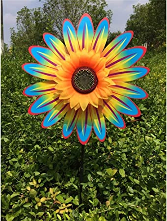 XuBa Girasol Molino de Viento turbina para césped jardín Fiesta decoración: Amazon.es: Hogar