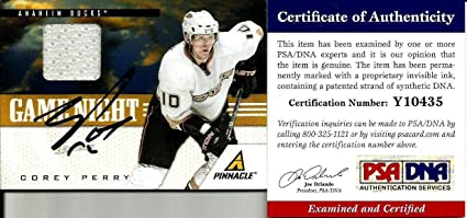 d87705a2e Image Unavailable. Image not available for. Color: 2011 Pinnacle Corey  Perry Anaheim Ducks Signed Auto Jersey ...