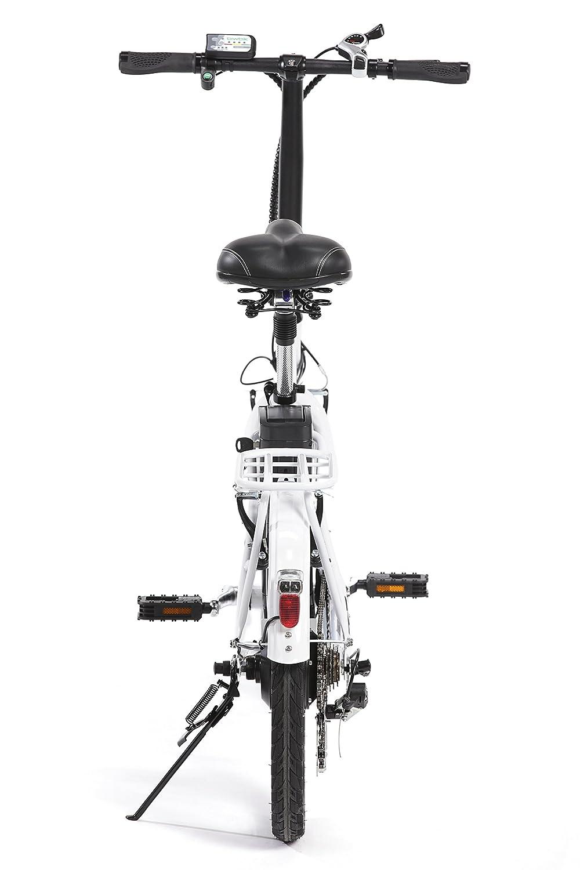 BIWBIK Book 200 Bicicleta Eléctrica, Unisex Adulto, Blanco, M: Amazon.es: Deportes y aire libre