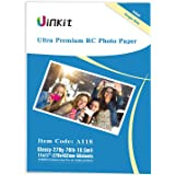 RC Ultra Premium Photo Paper - 11x17 High Glossy Photographic Paper 100% Waterproof - Uinkit 50Sheets for Inkjet…
