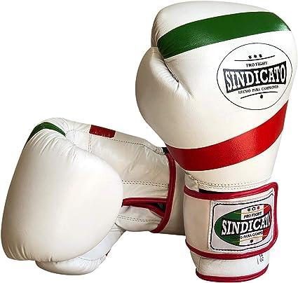 Sindicato Mexican Guantes de boxeo de piel genuina: Amazon.es: Deportes y aire libre