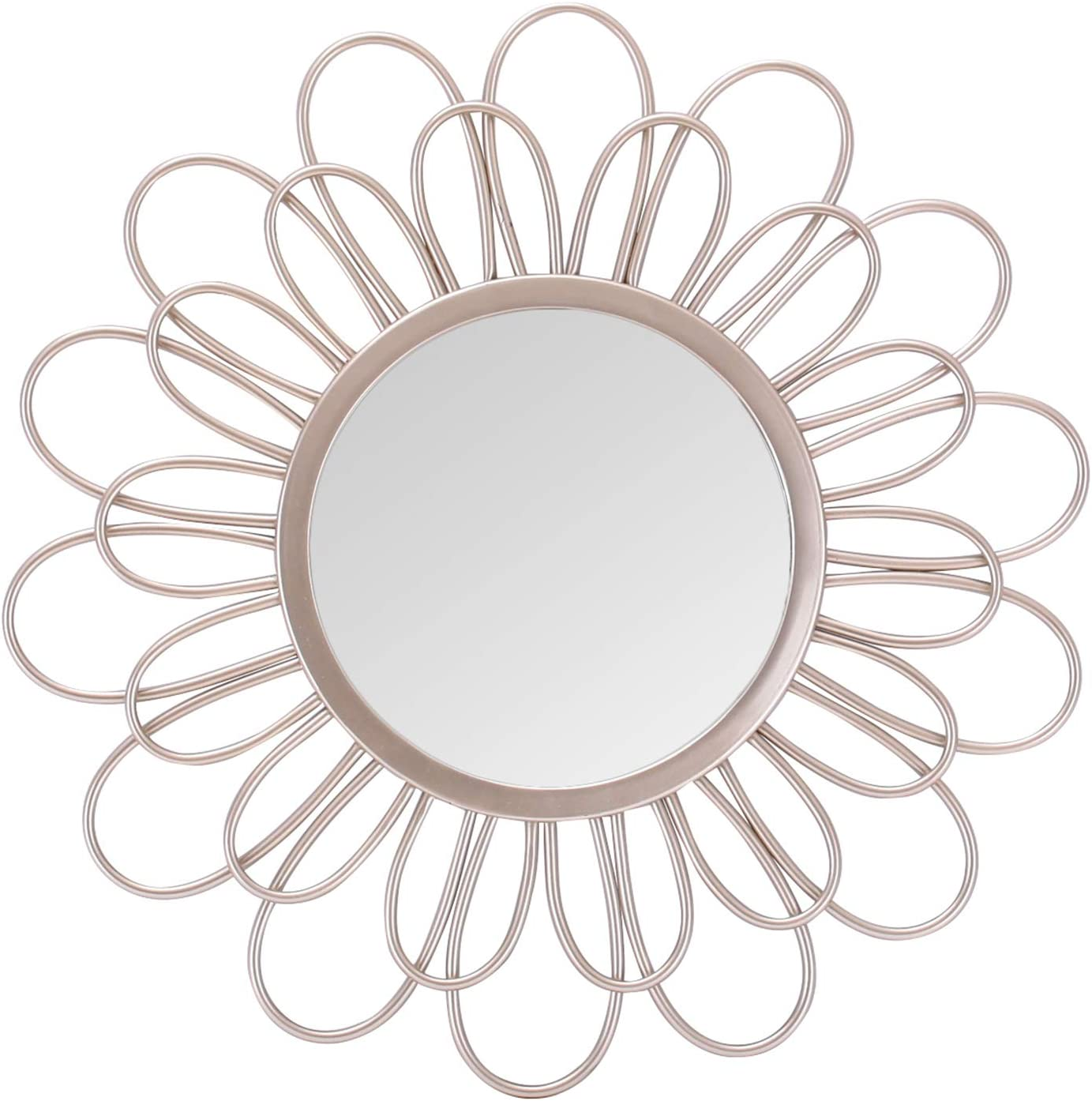Asense Home Collection Mirror, Classic Metal Decorative Wall Mirror (Sunflower)
