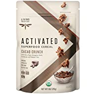 Living Intentions Organic Superfood Cereal - Cacao Crunch - NonGMO - Gluten Free - Vegan - Kosher -9 Oz