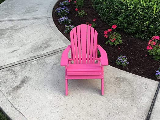 Furniture Barn USA Outdoor Toddler Adirondack Chair – Bright Blue Poly Lumber – Recycled Plastic