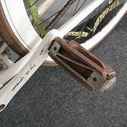 Pedales Para Bicicleta Clasica Retro Vintage Bloque de Goma Color ...