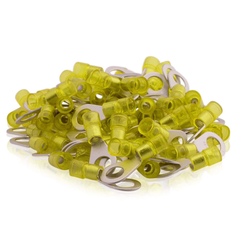 Isolierter Quetschkabelschuh 100Stk. 4-6qmm M8 gelb DIN 46237