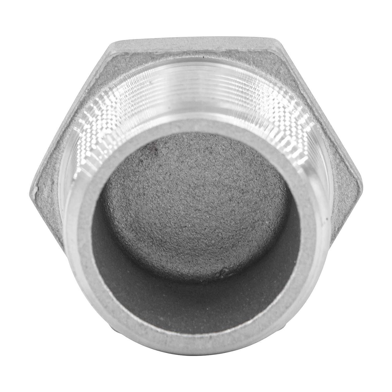 """1 Tap/ón hexagonal de acero inoxidable V4A. 1/"""""""